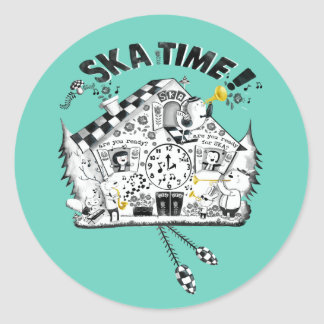 Skaの時間ハト時計 ラウンドシール