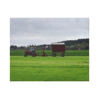 Skagitの谷の農業 キャンバスプリント