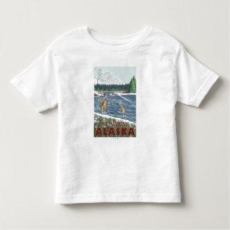 Skagway、アラスカ-はえの漁師 トドラーTシャツ