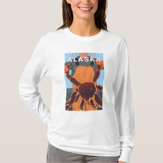 Skagway、アラスカ-タラバガニ漁師 Tシャツ