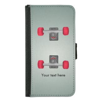 Skateboadの赤い車輪 Galaxy S5 ウォレットケース