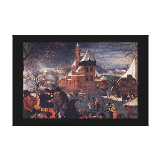 Skaters', Pieter Brueghel_Dutchのマスター キャンバスプリント