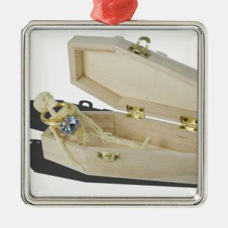 SkeletonEngagementRingCoffin070515 メタルオーナメント