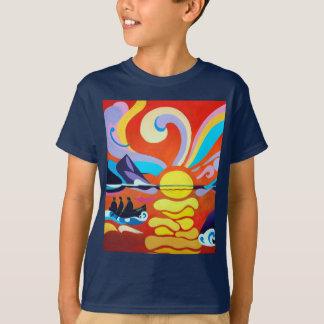 Skelligの島の範囲の子供のHanes TAGLESS®のティー Tシャツ