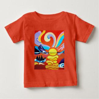 Skelligの島の範囲の罰金のベビーのTシャツ ベビーTシャツ