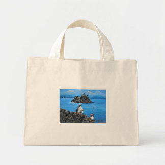 Skelligミハエルのツノメドリ ミニトートバッグ