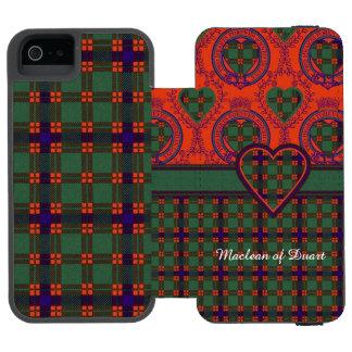 Skeneの一族の格子縞のスコットランド人のタータンチェック iPhone SE/5/5sウォレットケース