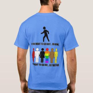 SKILLHAUSE -またはずっと-色は絶食します Tシャツ