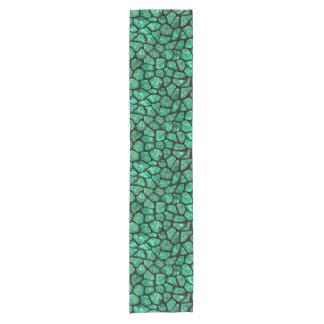 SKIN1黒い大理石及び緑の大理石(R) ショートテーブルランナー