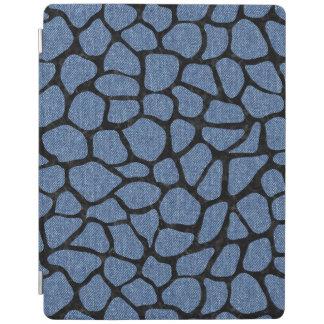 SKIN1黒い大理石及び青いデニム iPadスマートカバー