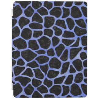 SKIN1黒い大理石及び青い水彩画(R) iPadスマートカバー