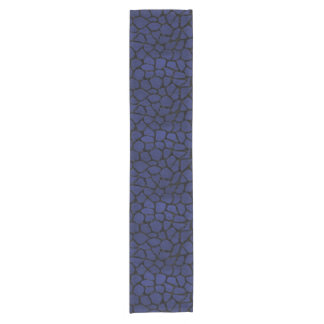 SKIN1黒い大理石及び青い革 ショートテーブルランナー