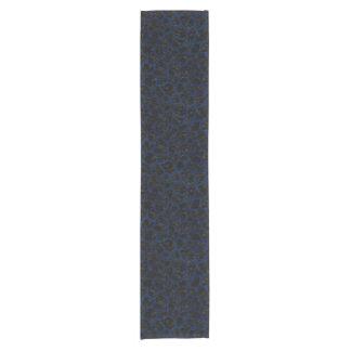 SKIN1黒い大理石及び青くグランジな(R) ショートテーブルランナー