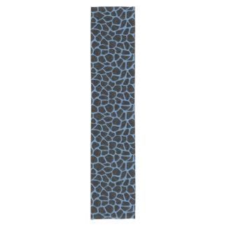 SKIN1黒い大理石及び青は鉛筆(R)を着色しました ショートテーブルランナー