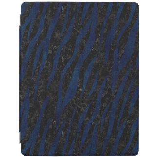 SKIN3黒い大理石及び青いグランジ iPadスマートカバー
