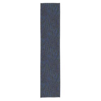 SKIN4黒い大理石及び青いグランジ ショートテーブルランナー