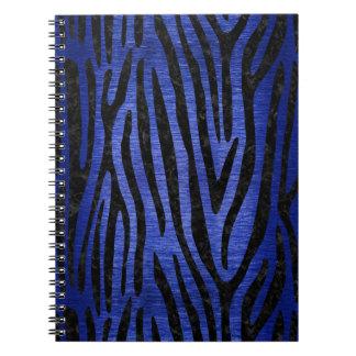 SKIN4黒い大理石及び青によってブラシをかけられる金属 ノートブック