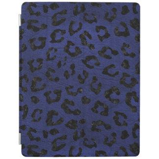 SKIN5黒い大理石及び青い革 iPadスマートカバー