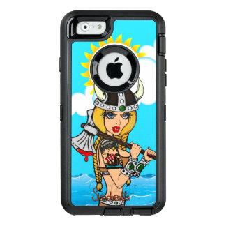 Skinderella著バイキングの女の子の擁護者の例 オッターボックスディフェンダーiPhoneケース