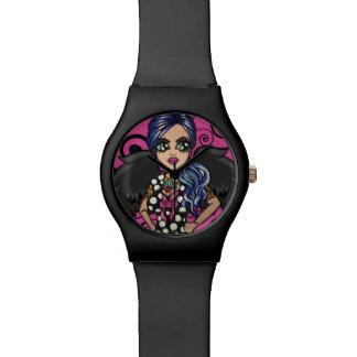 Skinderella著パンクの天使の腕時計 腕時計