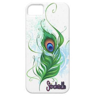 Skinderella著孔雀の羽の電話箱 iPhone SE/5/5s ケース