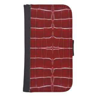 Skinz 1つの革トカゲの皮の赤 ウォレットケース