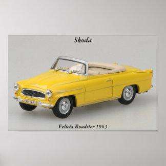 Skodaのフェリシアのロードスター1963のプリント ポスター