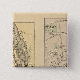 Skowhegan、Fairfield 5.1cm 正方形バッジ