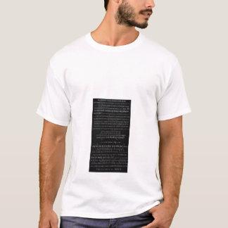 Skrift fraのhenneのsvart tシャツ