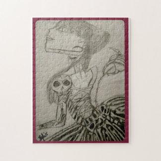 Skull女性ジグソーパズル ジグゾーパズル