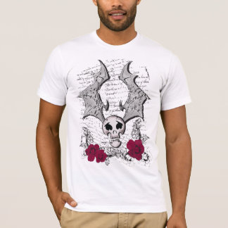 SKULL-BATのバラ Tシャツ