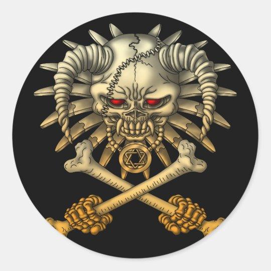 skull cross ラウンドシール