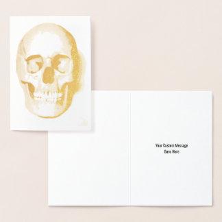 Skull Halloween Day of the Dead Custom Foil Card 箔カード