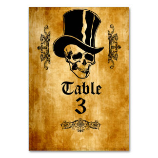 Skull Party Table Cardsハロウィンの氏 カード