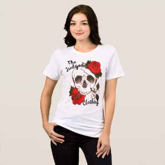 skull red rosed thejudged womens tee shirt tシャツ