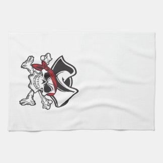 skullandの十字の骨の海賊 キッチンタオル