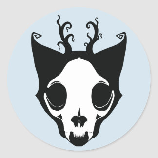 Skullcatのステッカー ラウンドシール