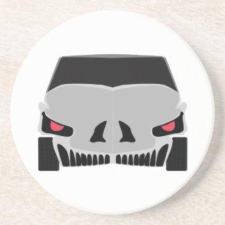 Skulled車のデザイン コースター