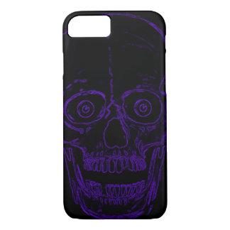 Skullyのスカルのインディゴの鬼のスカル iPhone 8/7ケース