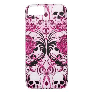 Skullyのスカルのピンクの死 iPhone 8/7ケース