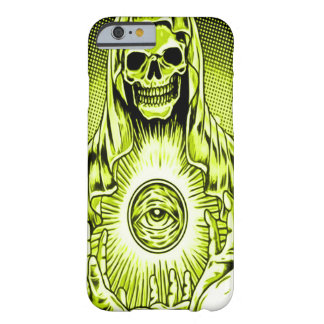 Skullyのスカルの金神の目 Barely There iPhone 6 ケース