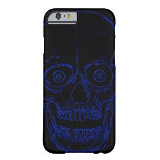 Skullyのスカルの青い鬼のスカル iPhone 6 ベアリーゼアケース