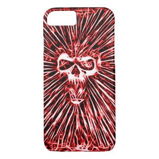 Skullyのスカルの鬼のスカルのフラクタルの芸術 iPhone 8/7ケース