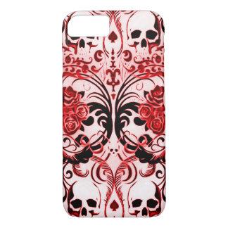 Skullyのスカルの鬼のトランプのポーカー iPhone 8/7ケース