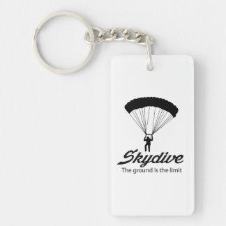 Skydiveは地面限界です キーホルダー