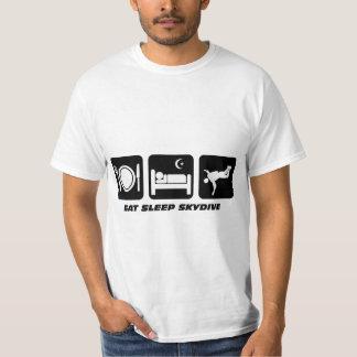 skydive睡眠を食べて下さい tシャツ