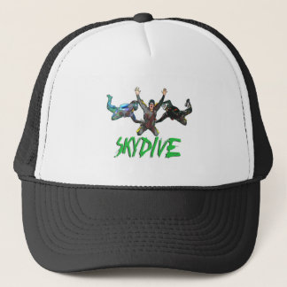 Skydive -緑の文字 キャップ