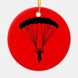 skydiverのシルエット セラミックオーナメント