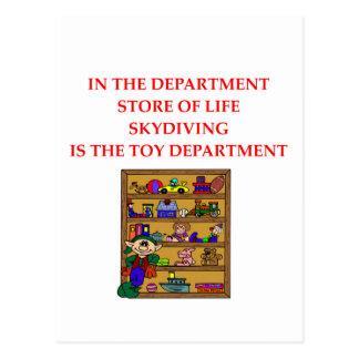 SKYDIVINGのギフトのTシャツ ポストカード