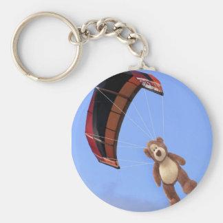 Skydivingのテディー・ベアKeychain キーホルダー